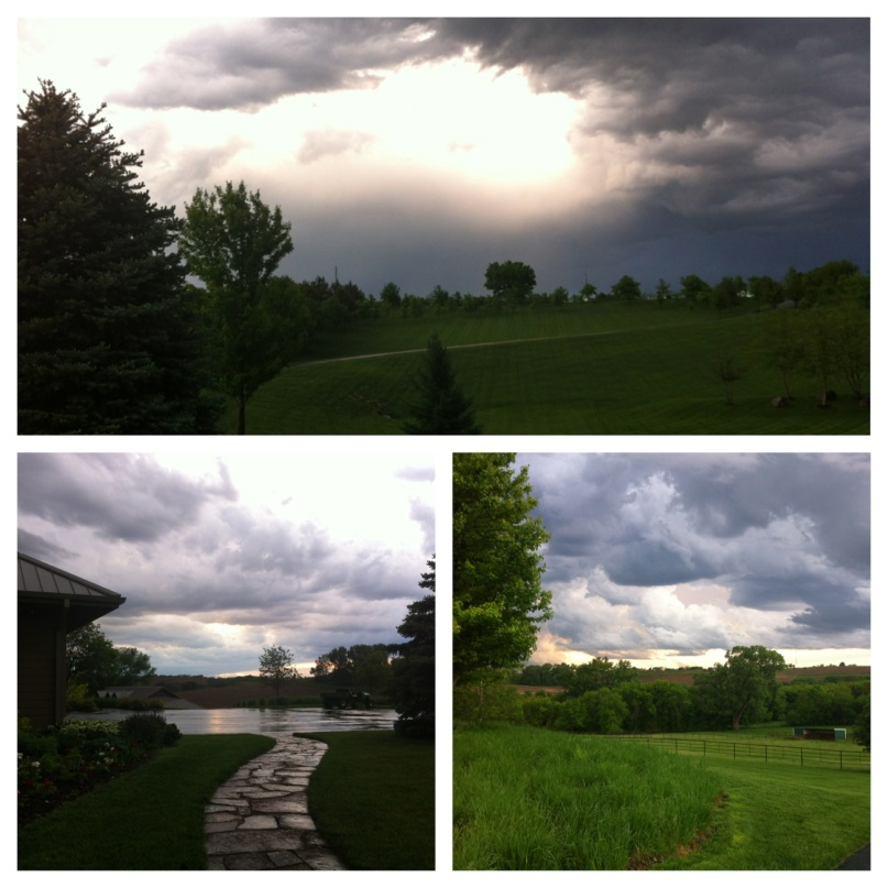 There were some pretty awesome storms when I was home! Beautiful, rainy days.
